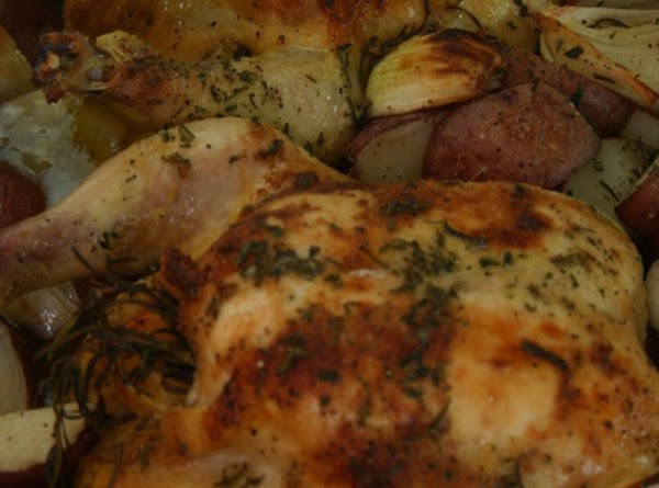 Rosted Chicken W/ Orange And Rosemary Recipe