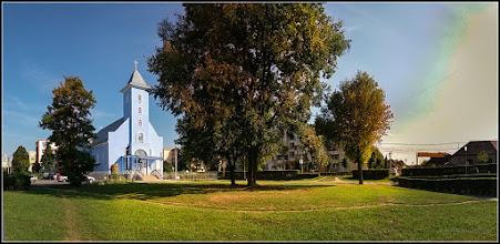 Photo: Calea Victoriei, Nr.3A - Biserica Greco Catolică - vedere panorama a spatiului verde din zona - 2017.09.08