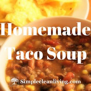 Homemade Taco Soup.