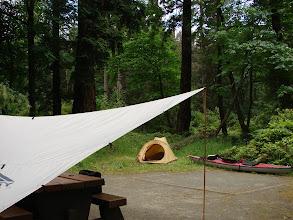 Photo: Campsite on Newcastle Island.