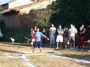 """Photo: Tirada de Barra Aragonesa ofrecida por Casa Rural """"Casa Médicas"""" Fiestas de San Ramón 2008"""