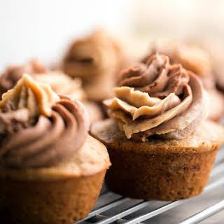 Peanut Butter Chocolate Swirl Banana Bread Cupcakes..