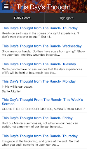 This Day's Thought The Ranch