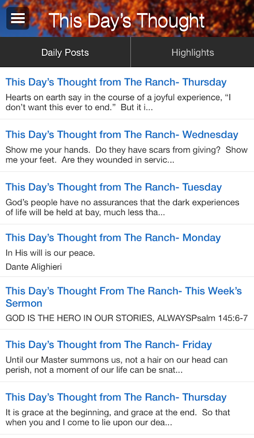 This Day's Thought / The Ranch- screenshot