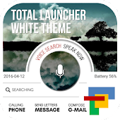 WHITE total launcher theme