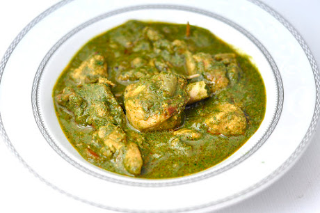 SPINACH (PALAK) CHICKEN CURRY