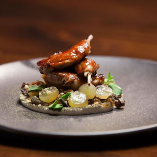 Quail, Grapes and Goats Cheese