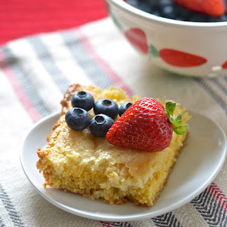 Simple Pound Cake Bars.