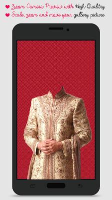 Sherwani Suit Photo Camera - screenshot