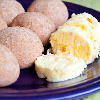Whole Wheat Taro Rolls with Coconut Lychee Compound Butter