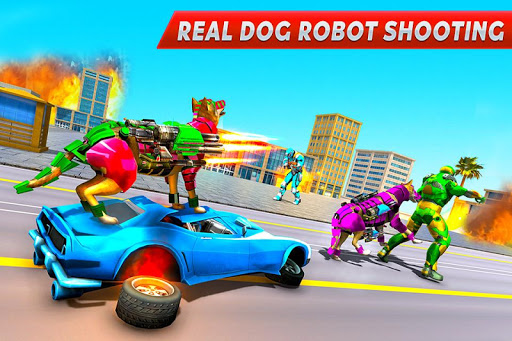 Dog Robot Transform Moto Robot Transformation Game filehippodl screenshot 1