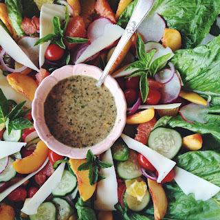 Fresh Citrus Salad with Balsamic Honey Vinaigrette Dressing.