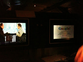 Photo: In the plane my neighbor was watching a documentary about Google!