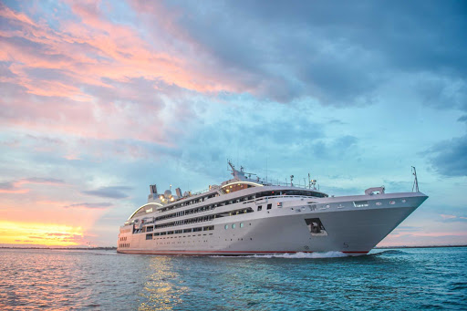 Ponant-sunset.jpg - Ponant will take you to exotic ports around the world on its yacht-style luxury ships.