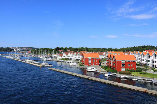 Norway-Stavanger-Grasholmen - The Grasholmen district of Stavenger includes a modern marina.