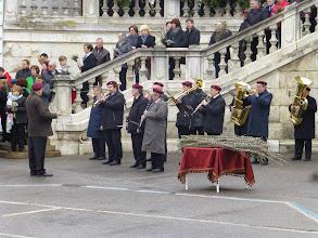 Photo: Die Heidmusik spielt das Eingangslied