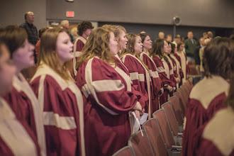 Photo: Eureka College Chorale singing the Alma Mater - credit Benjamin Cole, Office of Congressman Schock