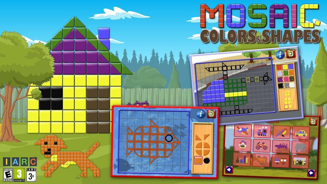 Kids Mosaic Art Shape and Color Picture Puzzles- screenshot