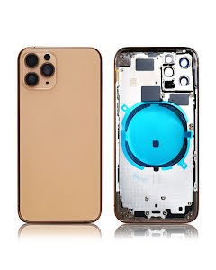 iPhone 11 Pro Back Housing without logo High Quality Gold