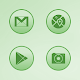 Bubble Gum Green Icons APK