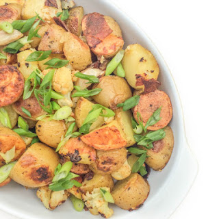 Garlic Roasted Potatoes and Cauliflower
