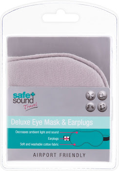 Safe + Sound Travel Deluxe Eye Mask & Earplugs