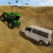 Towing Tractor Simulator Game 3D; Tow Bus and van