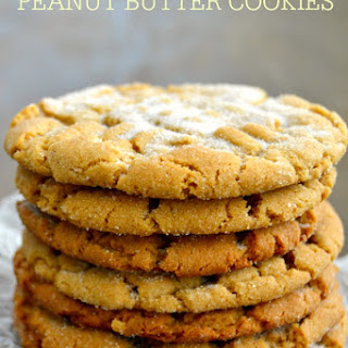 The Best Crisp and Chewy Peanut Butter Cookies {Gluten-Free!}