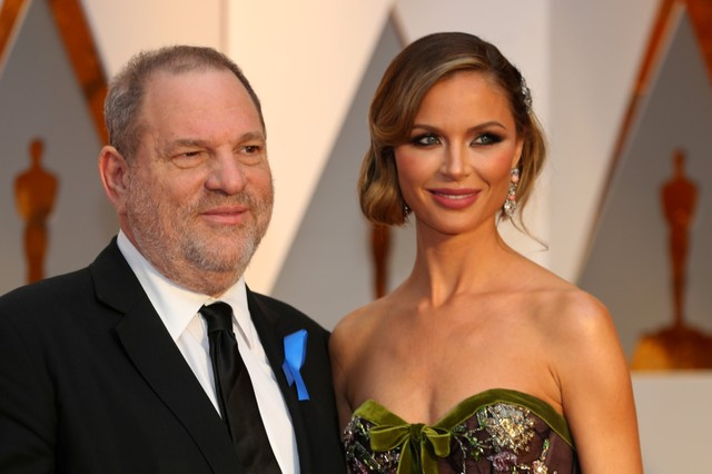 Harvey Weinstein and wife Georgina Chapman. File photo