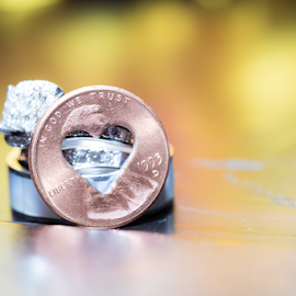 Lucky Love by Kelly Alexander - Artistic Objects Other Objects ( wedding photography, wedding photographer, bride and groom, rings, money, wedding, penny )