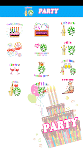 Party Sticker GIF Free screenshot 1