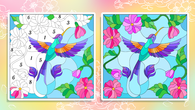 Paint by Numbers: New Coloring Pictures Book Free apk screenshot