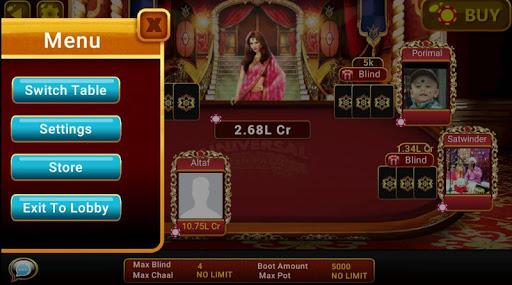 Universal Teen Patti - Indian Poker Game  captures d'u00e9cran 22