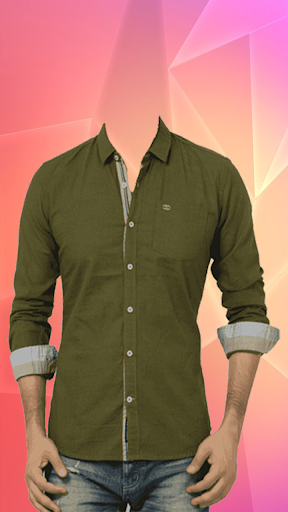 Man Casual Shirt Photo Suit screenshot 2