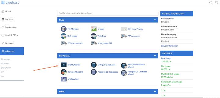 recuperar sites deletados - Restaure o backup do banco de dados WordPress por meio do phpMyAdmin ou cPanel