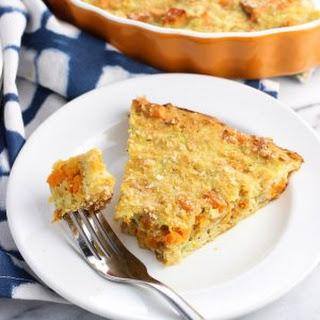 Easy Sweet Potato Zucchini Pie.