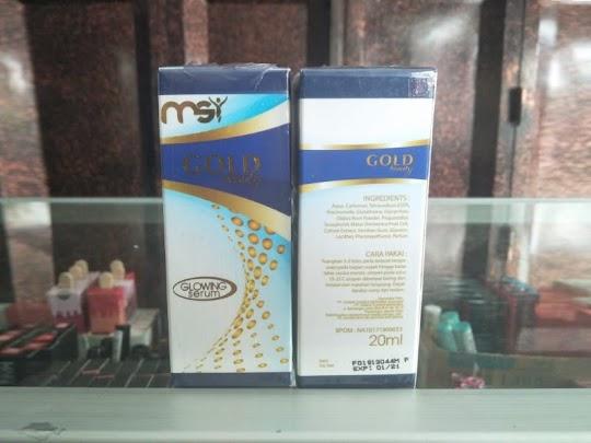Glowing Serum MSI GOLD BEAUTY memutihkan flek mencerahkan menutrisi kulit menyamarkan kerutan wajah