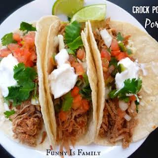 Crockpot Pork Tacos.