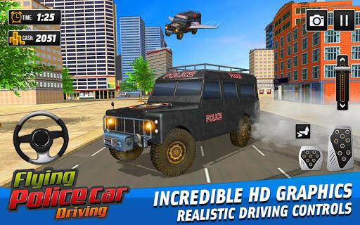 Flying Police Car Driving: Real Police Car Racing screenshots 3
