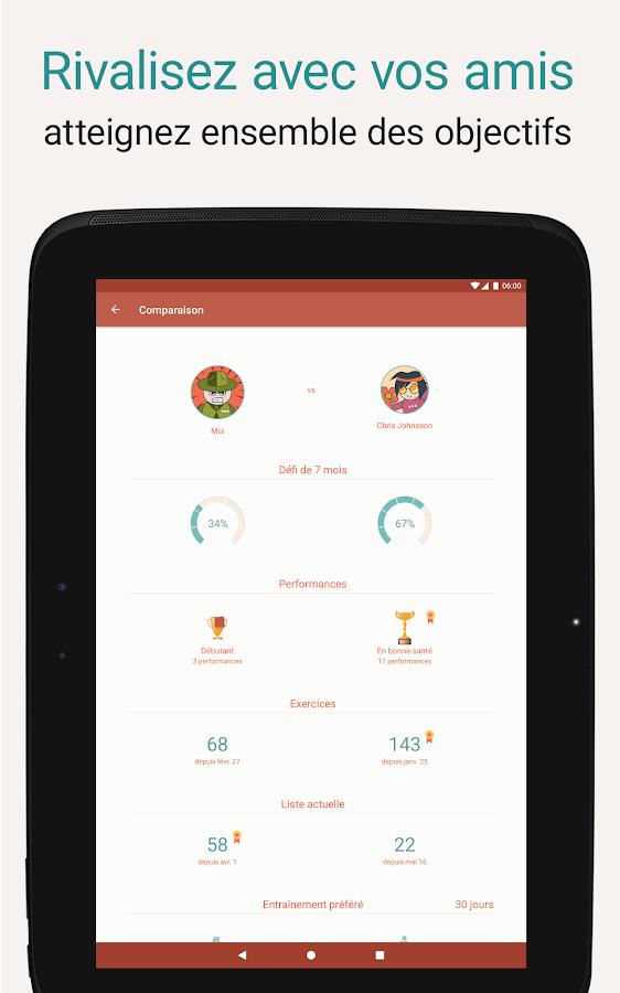 Bien connu Seven - Défi de 7 minutes d'exercices – Applications Android sur  NI74