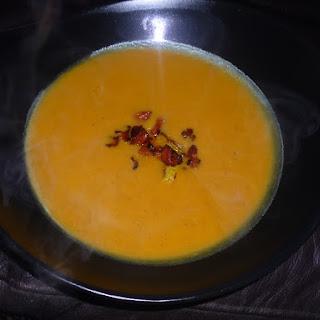 Warming Roasted Squash and Chorizo Soup