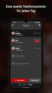 Hushed – Second Phone Number – Calling and Texting Screenshot