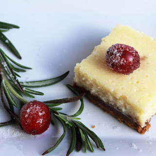 Mini Cheesecake Bars with Gingersnap Cookie Crust