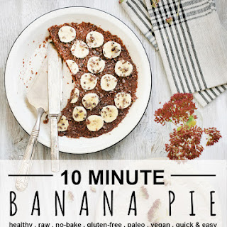 Raw Banana Nut Pie