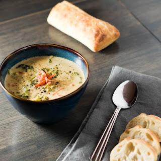 Broccoli Cheddar Cheese Soup.