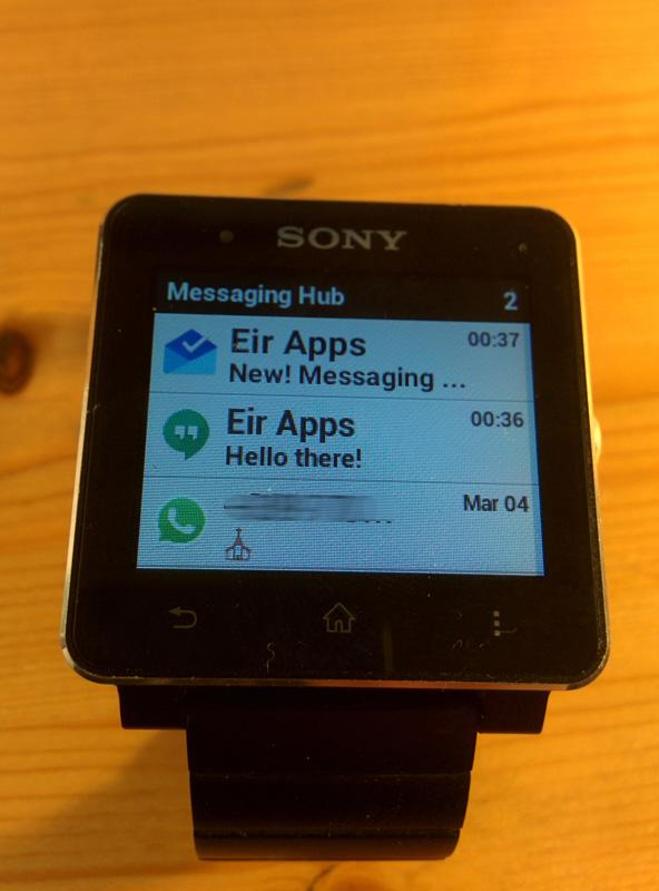 Messaging Hub for SmartWatch- screenshot