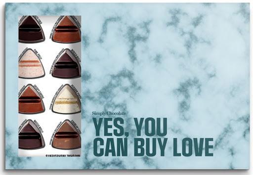 Yes You Can Buy Love – chokladask 24 bitar – Simply Chocolate