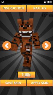 Skins FNAF for Minecraft PE - náhled