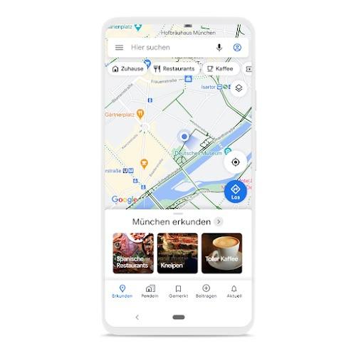 Ein Smartphone, auf dem Google Maps zu sehen ist
