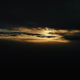 Sunrise between the layers by Jordan Wangsgard - Landscapes Cloud Formations ( cloud, sky, dji, sunrise, flying, clouds, sun, drone, landscape, fog, morning )